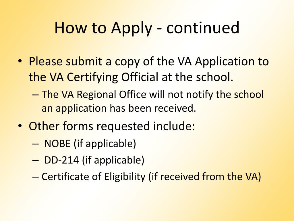 How to Apply - continued