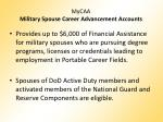 mycaa military spouse career advancement accounts