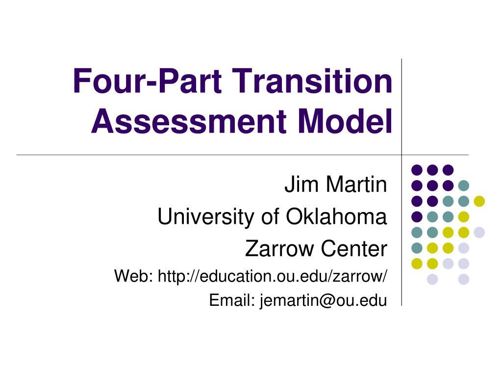 four part transition assessment model l.