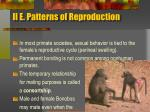 ii e patterns of reproduction