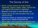 the source of soil