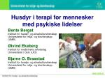 husdyr i terapi for mennesker med psykiske lidelser