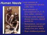 human needs