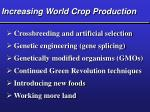 increasing world crop production