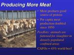 producing more meat