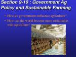 section 9 10 government ag policy and sustainable farming