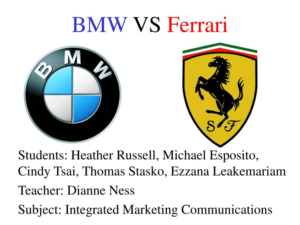 bmw vs ferrari l.