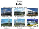 place bmw