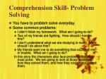 comprehension skill problem solving