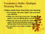 vocabulary skills multiple meaning words