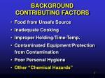 background contributing factors