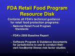 fda retail food program resource disk