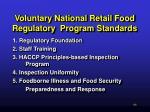 voluntary national retail food regulatory program standards51