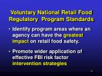 voluntary national retail food regulatory program standards53