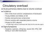 circulatory overload