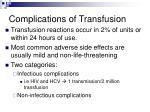 complications of transfusion