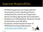 approver responsibility