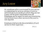 jury leave