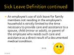 sick leave definition continued