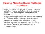 dijkstra s algorithm source partitioned formulation