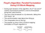 floyd s algorithm parallel formulation using 2 d block mapping35