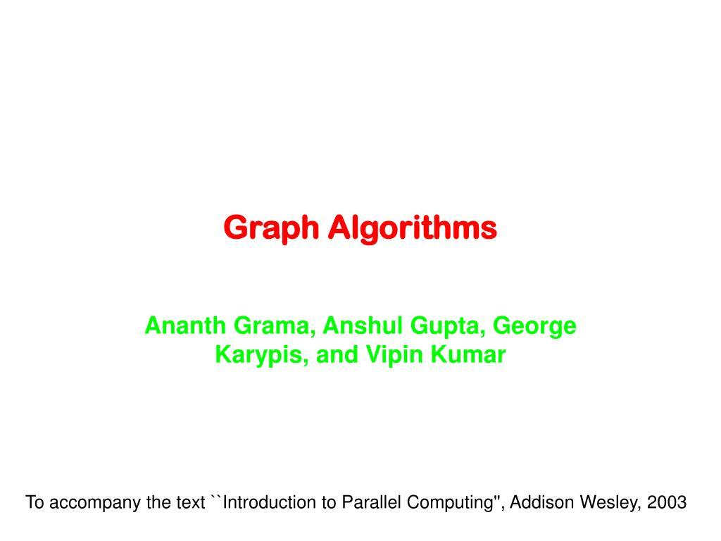 graph algorithms l.