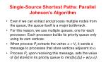 single source shortest paths parallel johnson s algorithm63