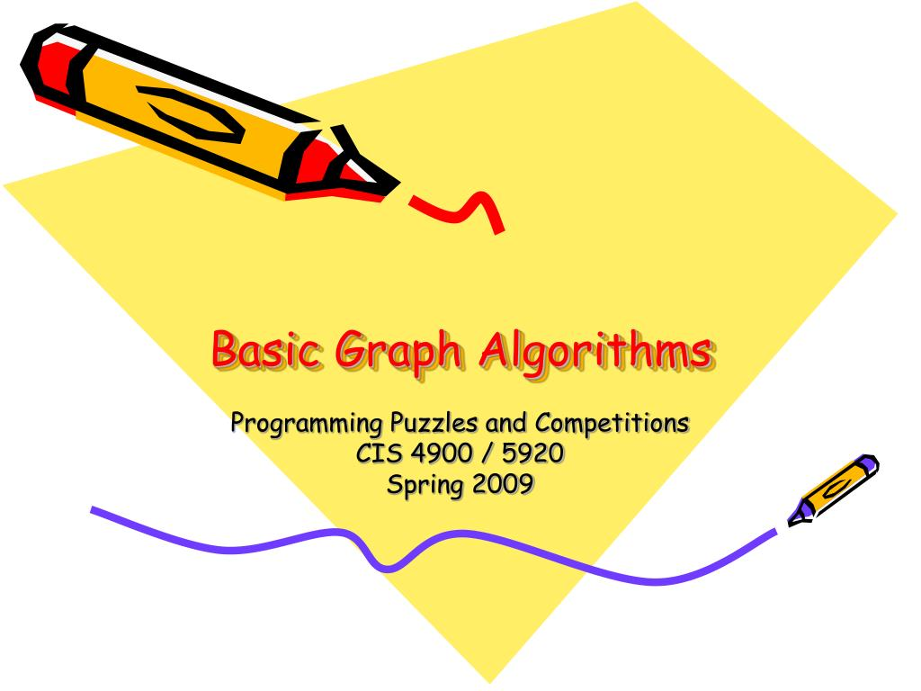 basic graph algorithms l.