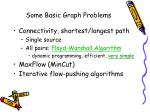 some basic graph problems