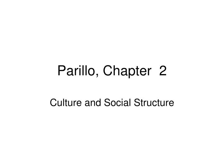 parillo chapter 2 n.