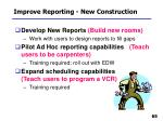 improve reporting new construction