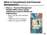 what is commitment and financial management continued