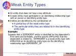 weak entity types