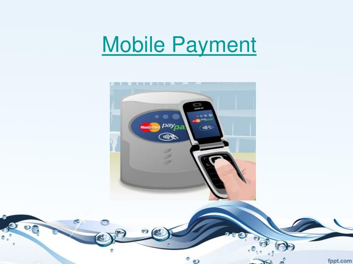 mobile payment n.