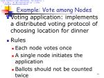 example vote among nodes