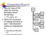 forwarding objects