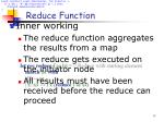 reduce function