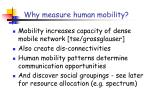 why measure human mobility