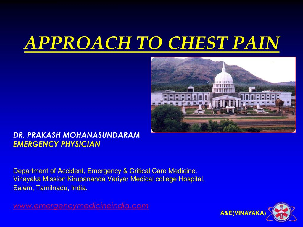approach to chest pain l.