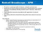 redcell broadscope apm