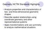 geometry nctm standards highlights