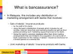 what is bancassurance
