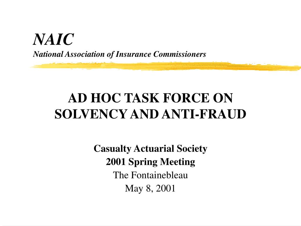 naic national association of insurance commissioners l.