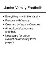 junior varsity football
