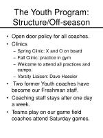 the youth program structure off season7