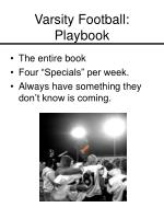 varsity football playbook