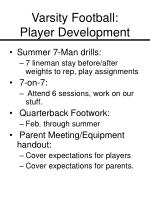 varsity football player development23