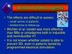 antiarrhythmic agents