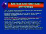 exercise and ventricular arrhythmias