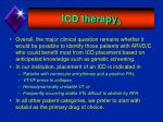 icd therapy 3